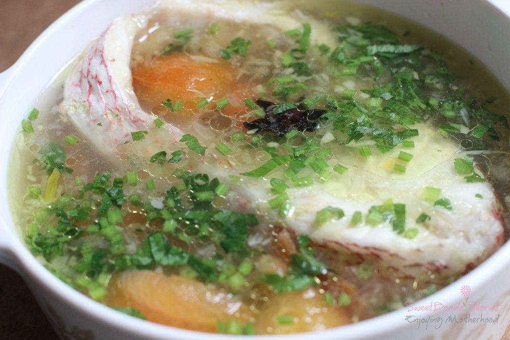 resepi  ikan merah mudah sedap sweetbonda stories recipe confinement food food ikan Resepi Sup Ikan Dowry Enak dan Mudah