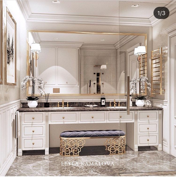 13 Dreamy Bathroom Lighting Ideas: I Like The Sitting Area At The Counter. That's About It In