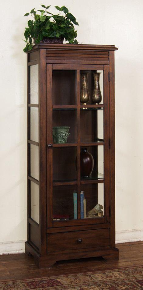 Savannah Birch Curio Cabinet By Sunny Designs At Wayside Furniture