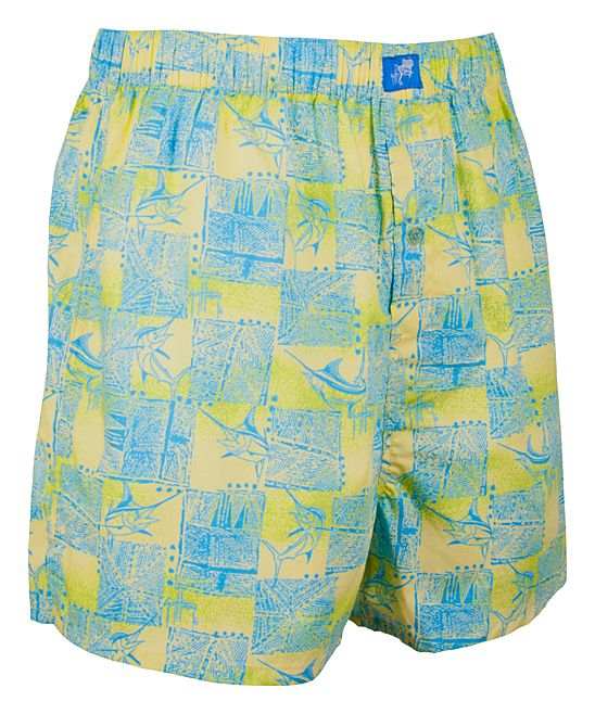 Yellow Off-Duty Boxers