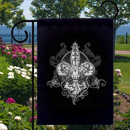 Captivating Victorian Fleur De Lis New Small Garden Yard Flag, Cool Tattoo Art Gothic