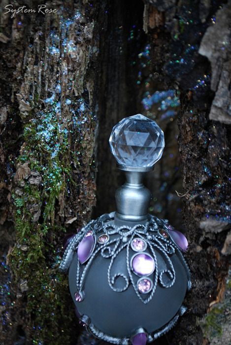 Blue Jeweled Bottle Specialty