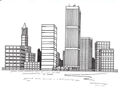 Cityline Transparent Landscape Drawing Easy City Drawing Cityscape Drawing