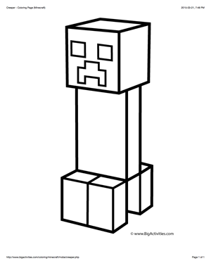 Minecraft Coloring Pages Creeper : minecraft, coloring, pages, creeper, Minecraft, Coloring, Picture, Creeper, Color, Pages,, Pictures,, Drawings