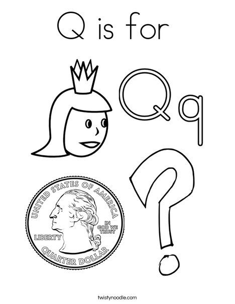 Q Is For Coloring Page From Twistynoodle Com Alphabet Coloring Pages Coloring Pages Coloring Sheets For Kids