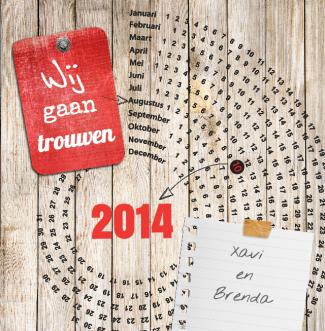 Trouwkaartje Xavi en Brenda   BlijKaartje.nl