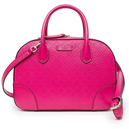 Gucci Diamante Small Satchel Handbag Blossom Hot Pink - Leather Bag 55d2826b7d076