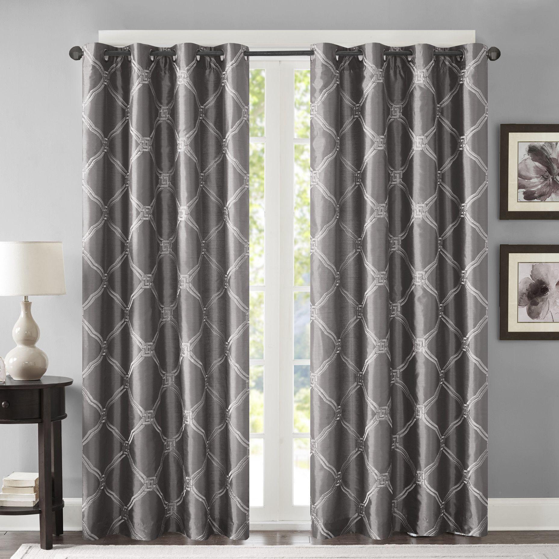 Teramo geometric room darkening grommet single curtain panel products
