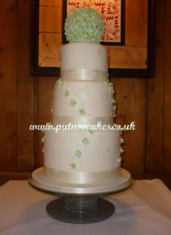Hyacinth Wedding Cake Delivered To The Swan Hotel Bedford Finished Height 25