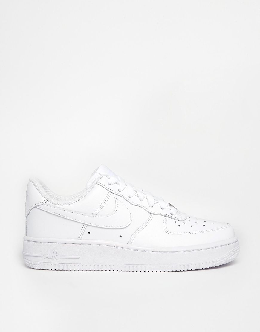 best website 2bb58 381f0 Image 2 of Nike Air Force 1  07 White Trainers