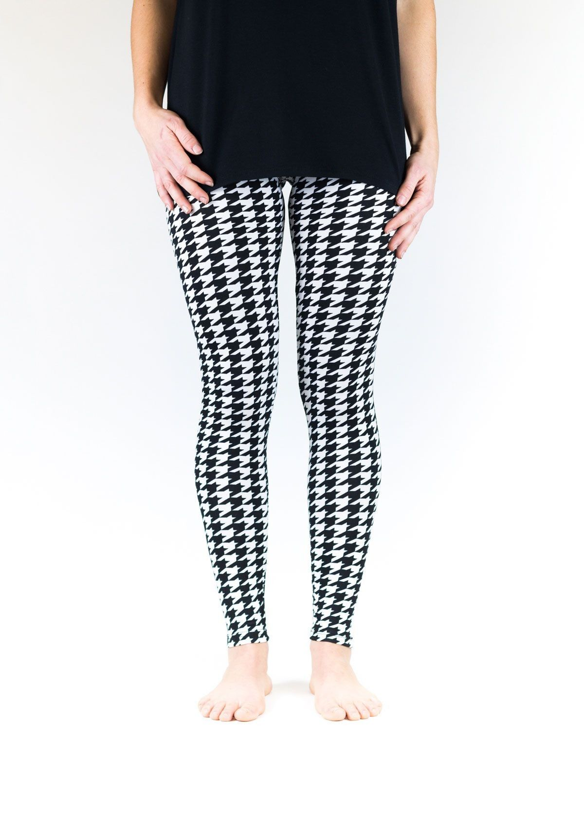 Black and White Houndstooth Leggings. Enter discount coupon code ...