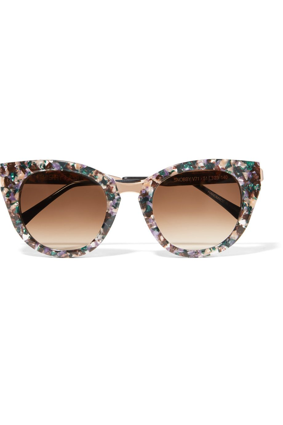 THIERRY LASRY Snobby cat-eye acetate and rose gold-tone sunglasses ... fcc8fa4460d3