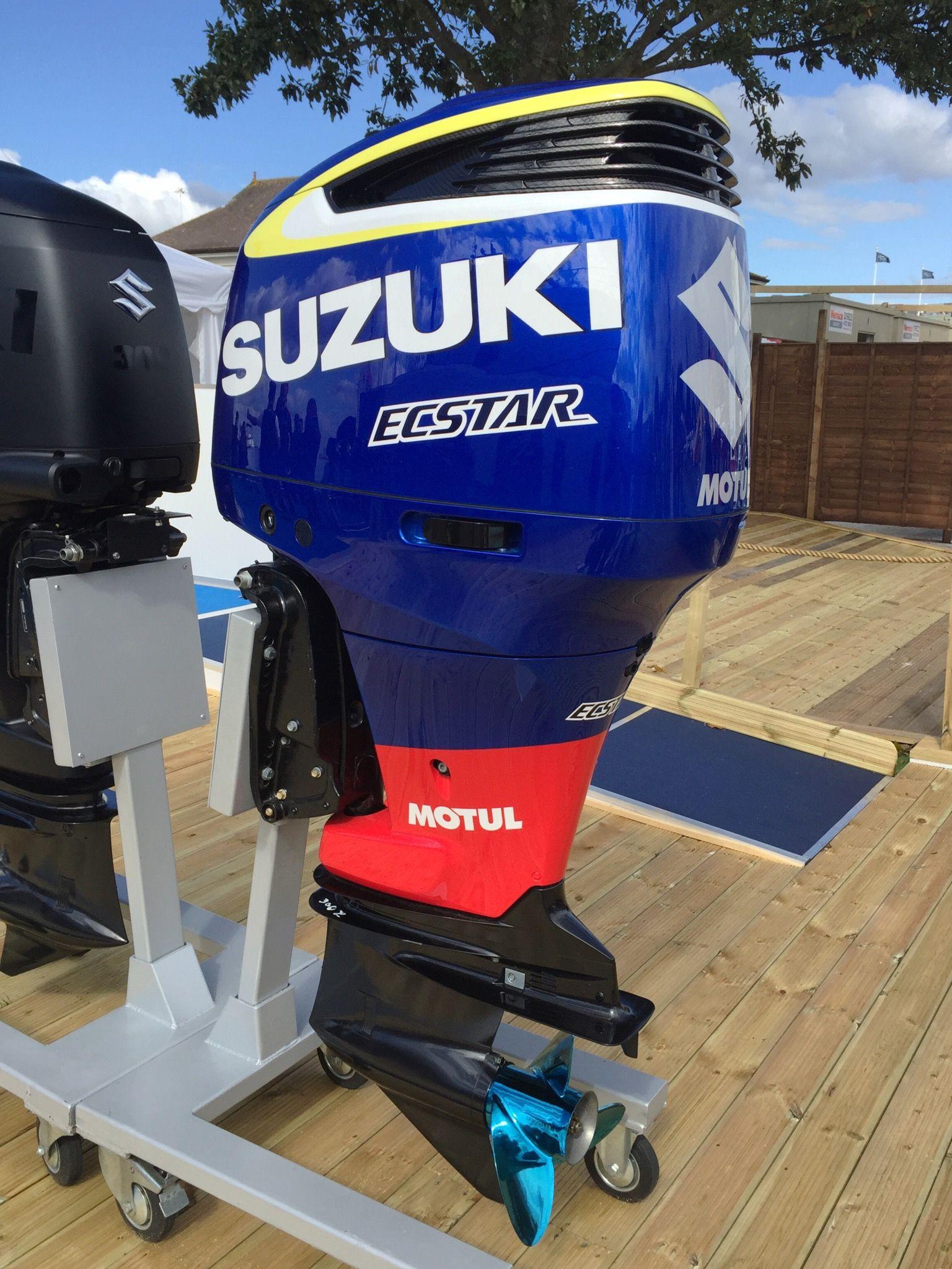 White Suzuki Outboards
