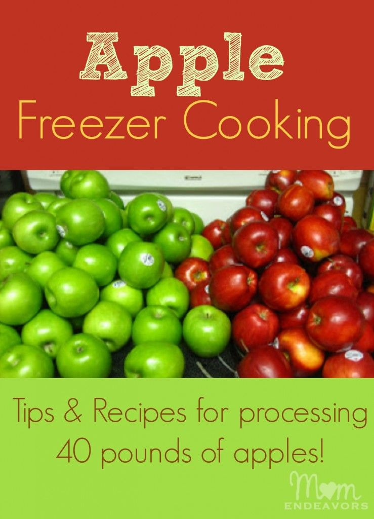Apple Freezer Cooking don't have to cook ahead of time