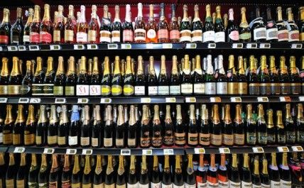 French Supermarket Champagne Champagne Producers Have Warned That