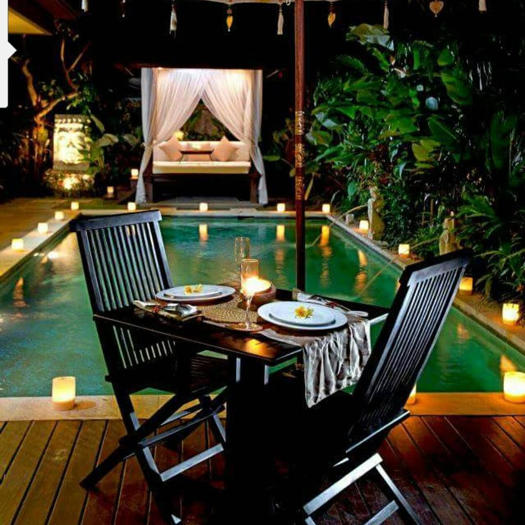 """""""Fancy this romantic dinner in your own private villa? Yes this is another stunning villa we work with   email us relax@balibuddies.com"""""""