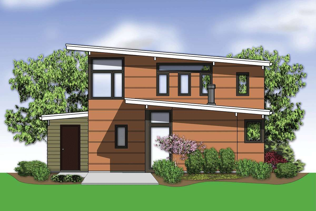 House Plan 255900777 Mid Century Modern Plan 1,899