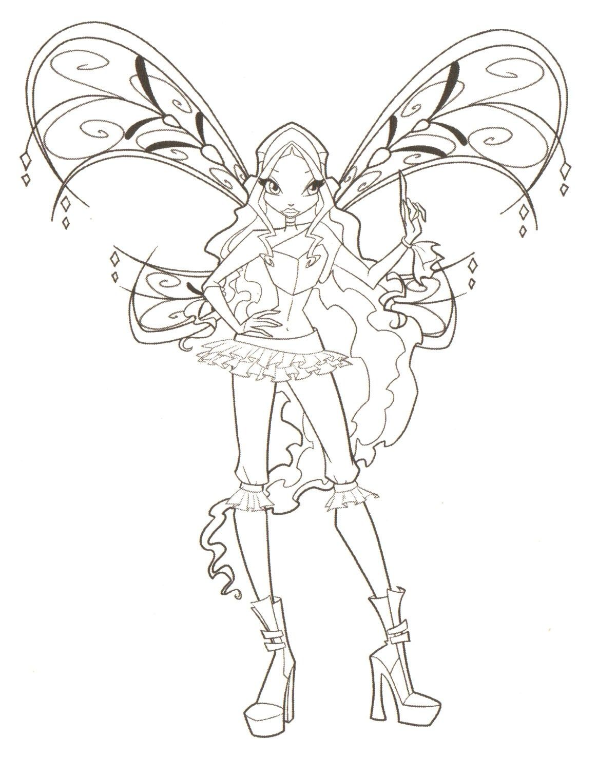 stella winx club coloring pages kids coloring pages pinterest