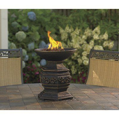 Propane Firepit Outdoor Tabletop Fire Urn Gas Pit Backyard Patio Gift 88