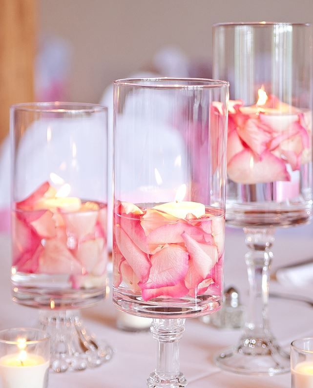 Water Wedding Centerpiece Ideas: Rose Petals In Water Vase - Google Search