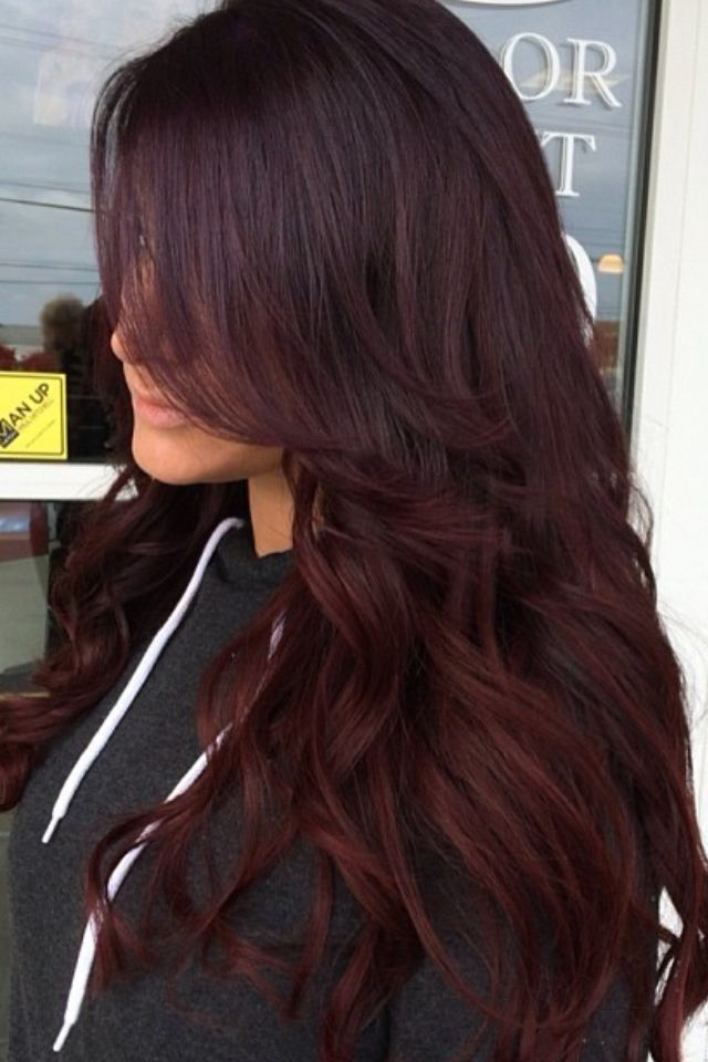 Cherry Coke Red And Dark Brown Hair Home Amp Garden