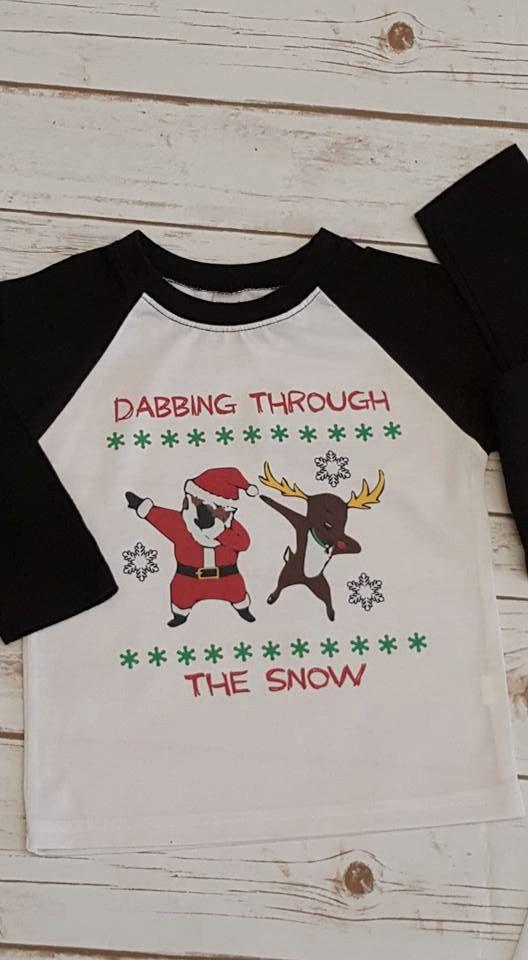 33082e1a Dabbing through the snow, Women's Christmas Shirt, Funny Christmas shirts,  Ladies Christmas Shirt, Adult Christmas Shirt, Christmas Raglan by ...