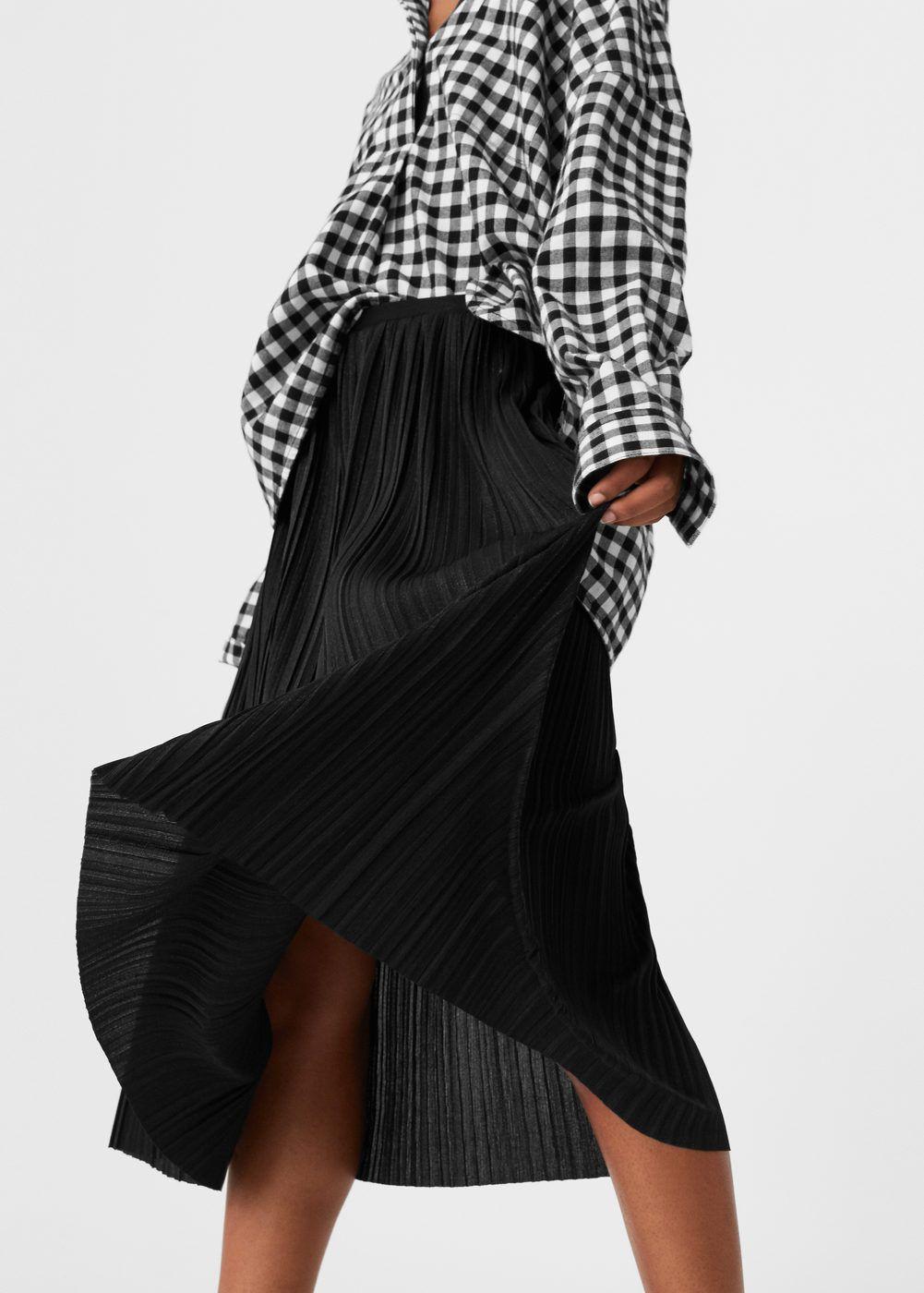 Falda midi plisada - Mujer  7db613c45f73