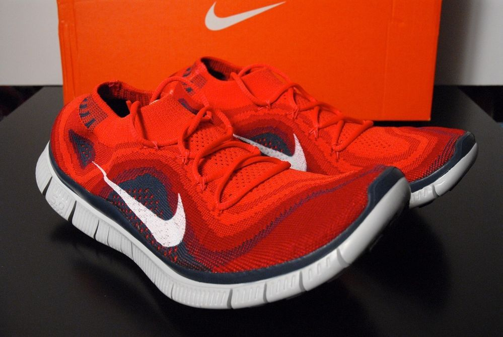 timeless design 3c89a 74842 Nike Free Flyknit + 5.0 Men size 10.5 Running Gym Red 615805 616  Nike   AthleticSneakers