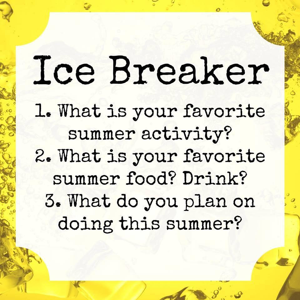 Summer Party Ice Breaker Online Party Online parties