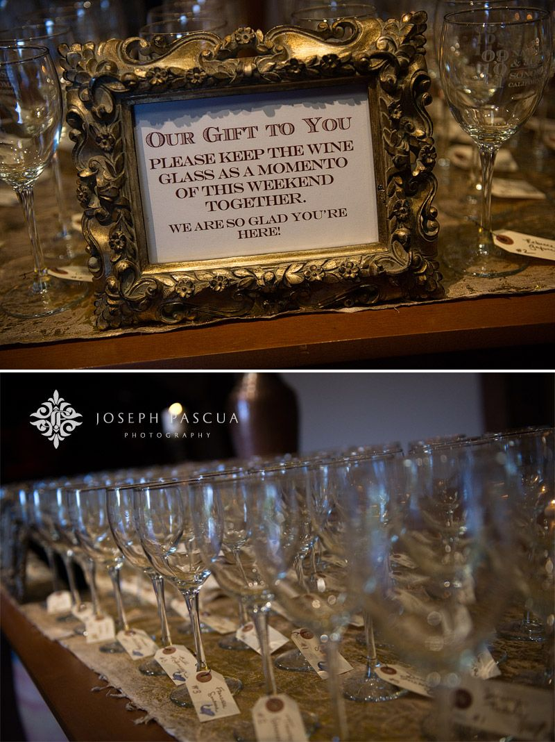 Use wine tags. Photography by Joseph Pascua Photography. Coordination by Va de Vie Events. Event Design by bride, Natalie.