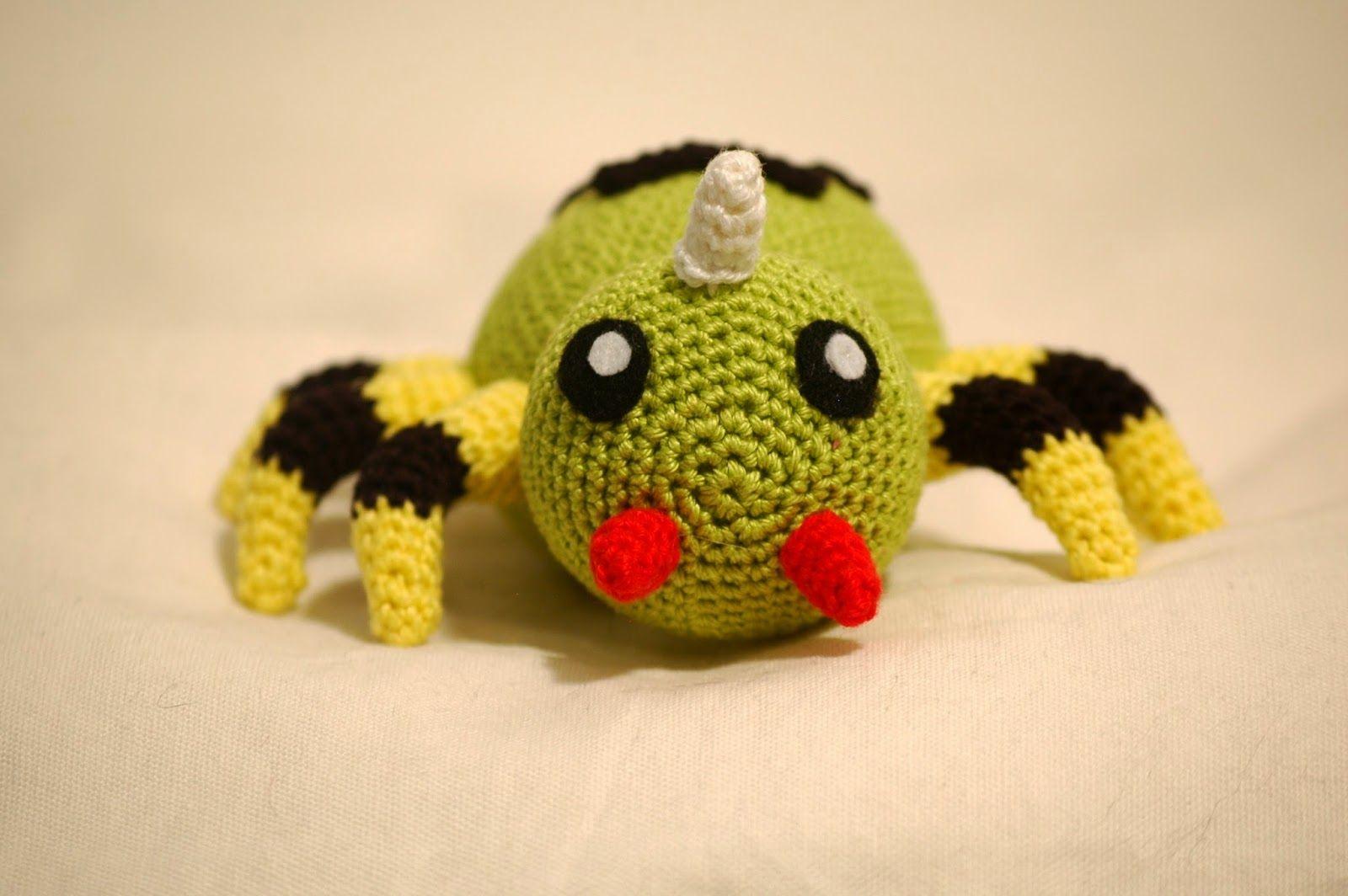 Sabrina\'s Crochet: Crochet pattern Spinarak (pokemon) | Pokémon Fun ...