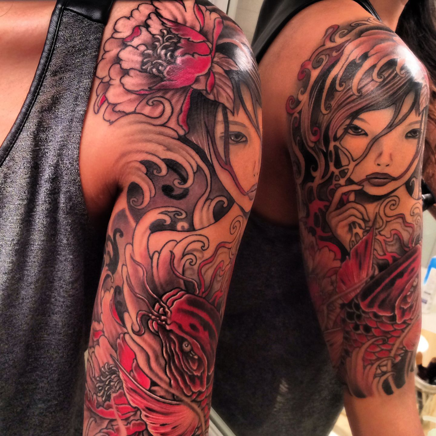 Japanese Half Sleeve Tattoo Japaneseoriental Blings Sleeve