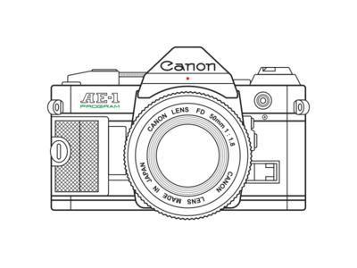 Canon Ae 1 Camera Drawing Camera Illustration Camera Clip Art