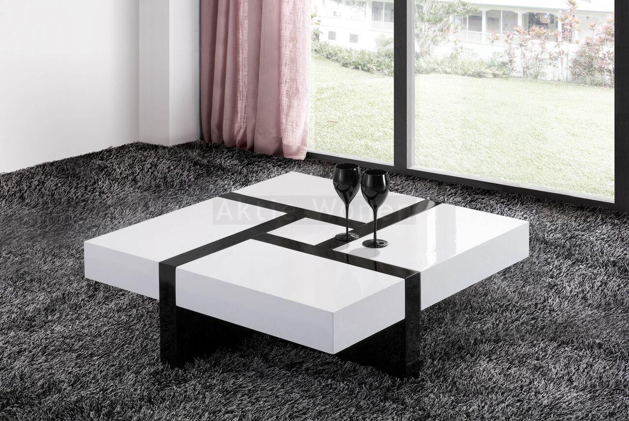Witte Salontafel Vierkant.Salontafel Vierkant Zwart Wit Salontafel Zwart Wit En Zwart