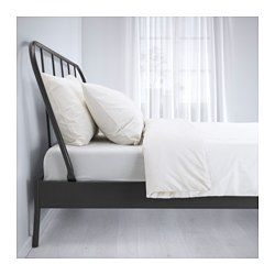 KOPARDAL Bed frame gray, Lönset Queen Ikea metal bed