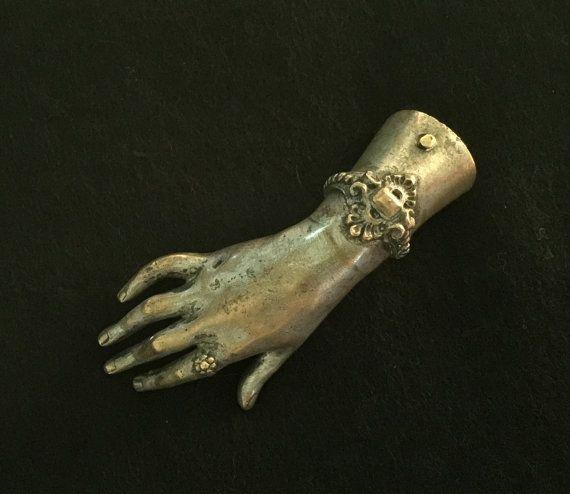 Victorian Ladies Hand Bronze Sculpture Paper Weight