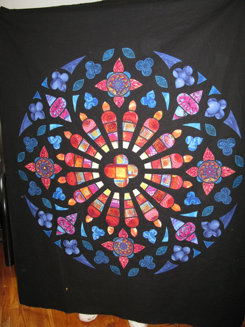 Another very creative stained-glass quilt.