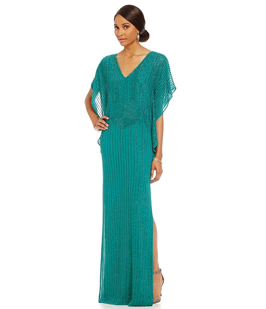 Aidan Mattox V-Neck Flutter Sleeve Gown | MOTHER OF THE BRIDE ...
