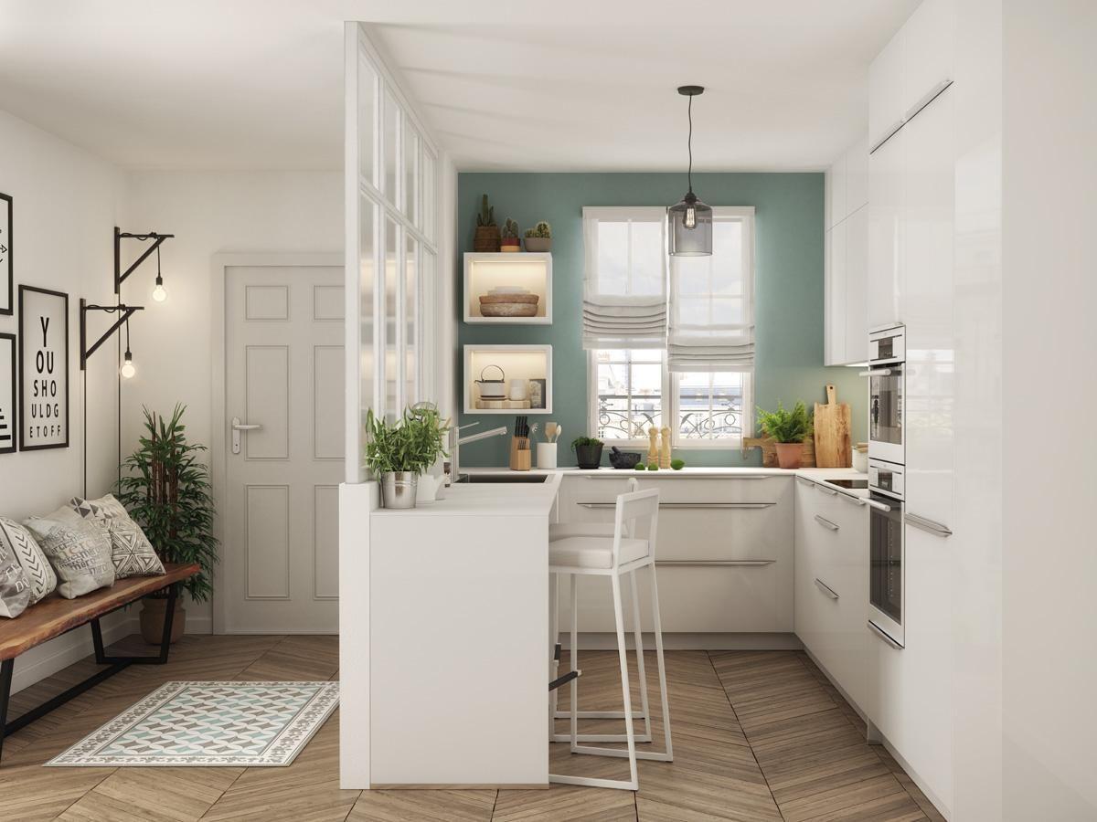 Comment am nager une cuisine en longueur d coration maison petite cuisine ouverte petite - Amenagement petite maison ...