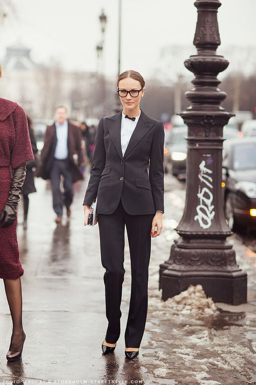 black suit | photo by stockholm streetstyle