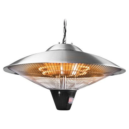 Indoor Outdoor Hanging Electric Heater Includes Chain And Safety Anti Tilt Switch Product Indoor Outdoor Heaterconstruction Ma Patio Heater Outdoor Heaters Clearance Outdoor Furniture