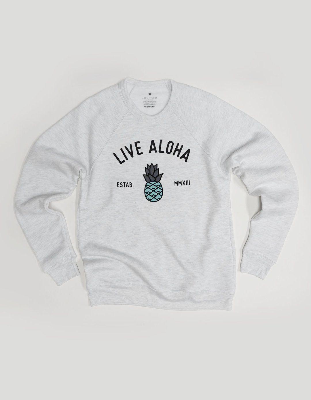 Aloha Pineapple Sweatshirt Heather Grey Pineapple Sweatshirt Love Fitness Apparel Sweatshirts [ 1389 x 1080 Pixel ]
