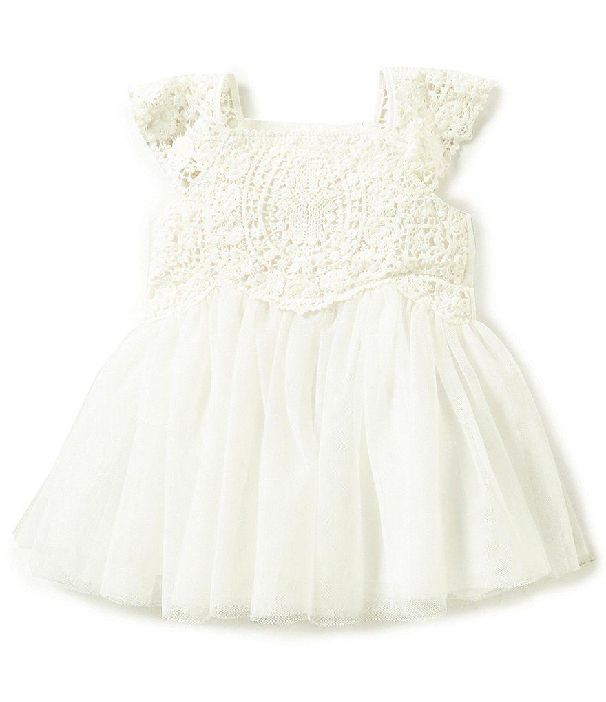 c9f53eb80 Edgehill Collection Baby Girls Newborn-24 Months Crochet Detailed ...