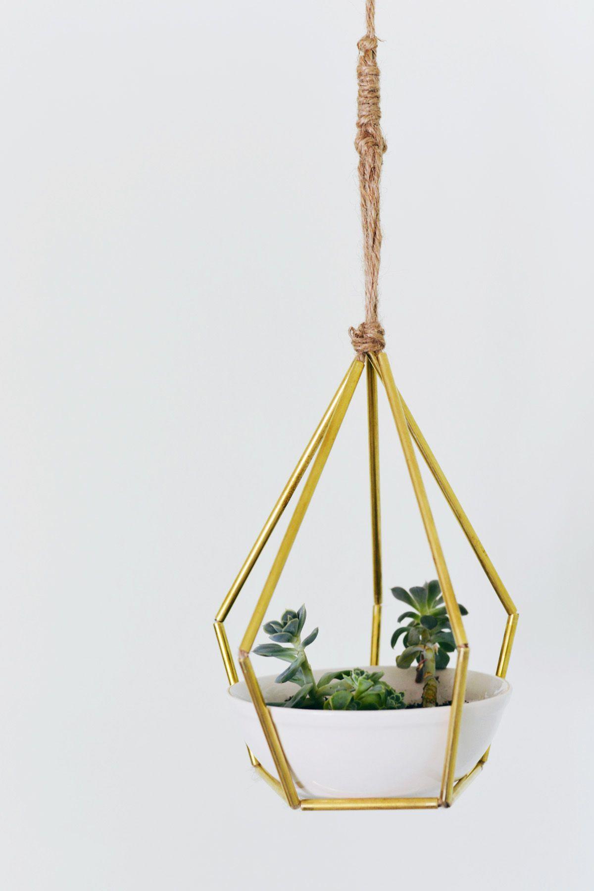 Hanging Planters Diy Geometric Metal Tubing Hanging Planter Planters Craft And