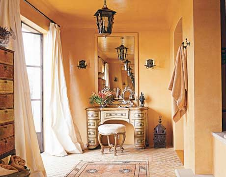 Especially If I Were To Leave The Ceiling Unpainted This Beautiful Room Is Just Too Peach Like For Me