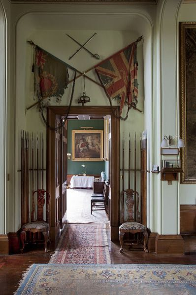The Hall Of A Scottish Country House Those Flags Are To Die For