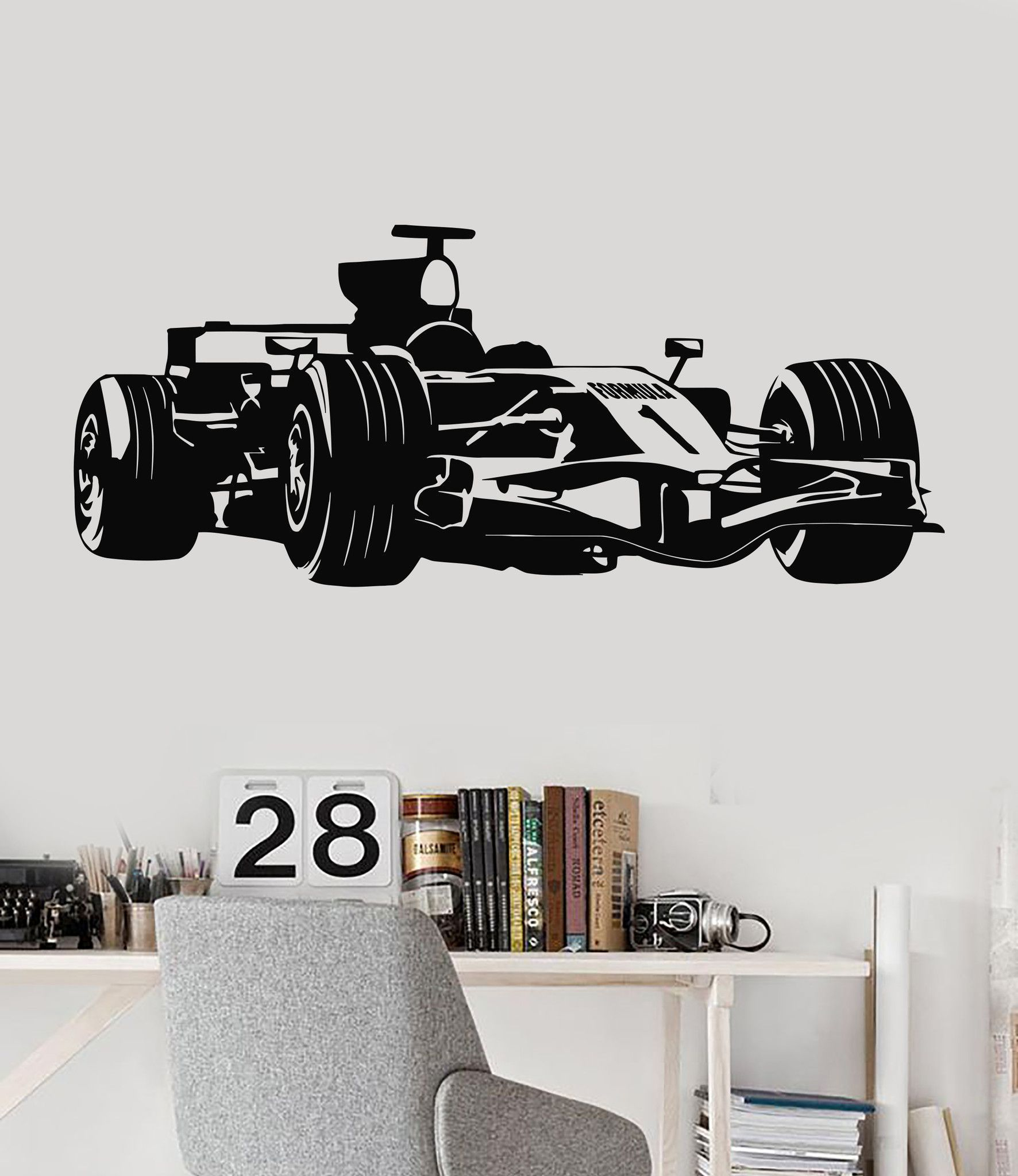 Vinyl Wall Decal Formula Race Car Garage Decor Childrens Room - Wall decals cars