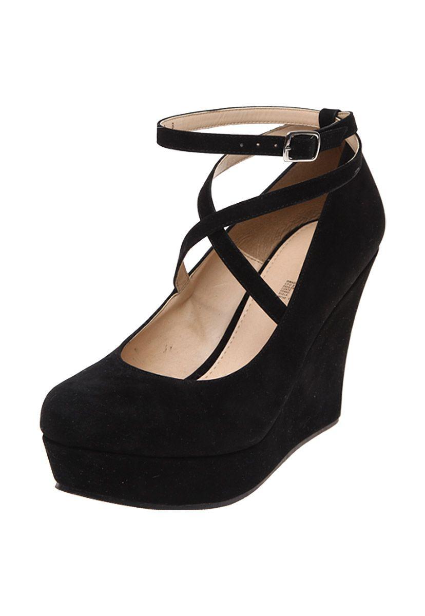 8d79094d Zapatilla Negra con Cuña - Capa de Ozono | Shoes | Zapatillas ...