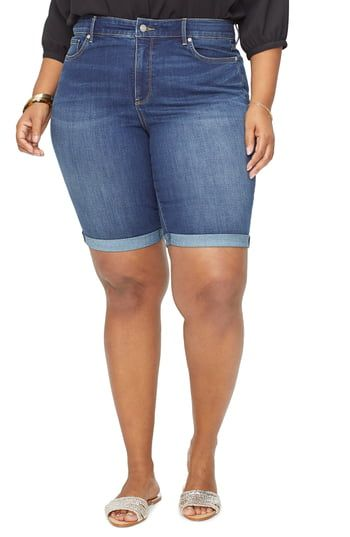 17490c202 NYDJ Briella Cool Embrace Roll Cuff Denim Shorts (Plus Size) in 2019 ...