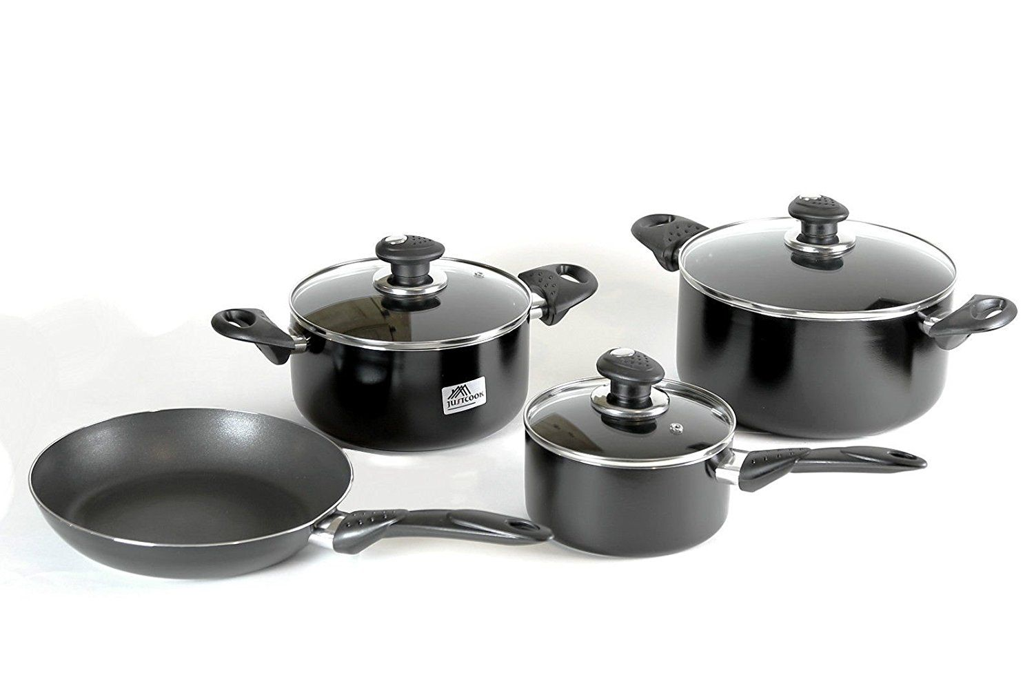 Royalford Cookware Set 7 Pieces Non Stick Durable Interior Heat Resistant 008 3 Remarkable P Cookware Set Cookware Set Nonstick Cookware Set Stainless Steel Non stick stainless steel cookware set
